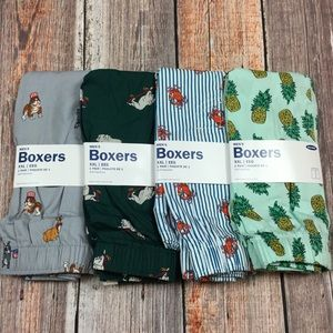 Old Navy Mens 2XL 44-46 Set Of Four Boxers